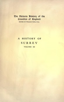 The Victoria History of the County of Surrey Volume 3.djvu