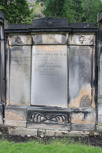 David Welsh - The grave of David Welsh, St Cuthbert's churchyard, Edinburgh