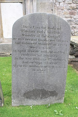 Thomas Halyburton - The grave of Thomas Halyburton St Andrews Cathedral churchyard