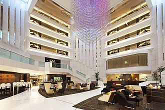 JW Marriott Cannes - The JW Marriott Cannes lobby.