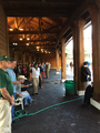The saddling area at Arlington International Racecourse, Chicago, Illinois.png