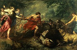 Theodoor Boeyermans - Meleager killing the Caledonian boar.jpg