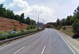 Thessaloniki Inner Ring Road road in Greece