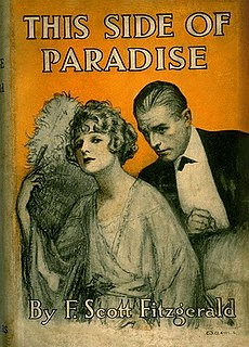 <i>This Side of Paradise</i> novel by F. Scott Fitzgerald