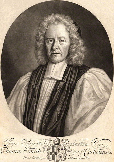 Thomas Smith, engraving by John Smith after Timothy Stephenson. ThomasSmithBpOfCarlisle.jpg