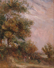 Landscape with Trees and a Figure