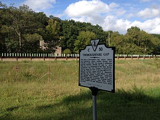 Thoroughfare Gap Battlefield American Civil War battlefield