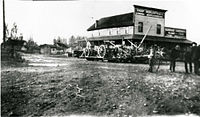 Thorp Mercantile Company and general store in Thorp, Washington. 1915