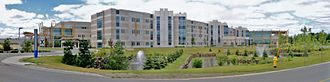 Thunder Bay Regional Health Sciences Centre - Panorama of the hospital from the southeast