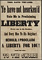 Thus saith the lord Ye have not hearkend unto me in proclaiming liberty ... (7645376716).jpg