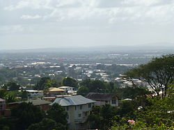 Tunapuna, with Trincity in the background