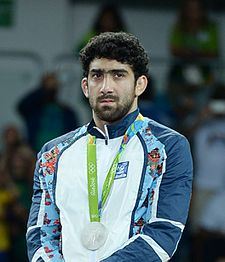 Toghrul Asgarov at the 2016 Summer Olympics awarding ceremony (cropped).jpg