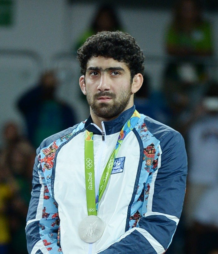 Toghrul Asgarov at the 2016 Summer Olympics awarding ceremony (cropped)