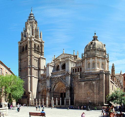 Toledo Cathedral, from Plaza del Ayuntamiento