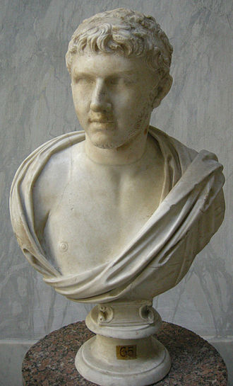 Ptolemy of Mauretania - Bust of Ptolemy of Mauretania in the Vatican Museums (Museo Chiaramonti)