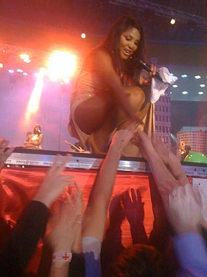 Toni Braxton - Braxton performing in Romania during New Year's Eve 2011