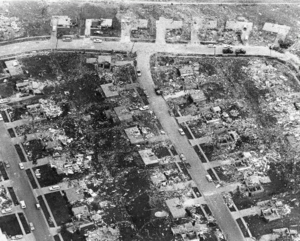Tornado outbreak sequence of June 1966 - Many homes were swept completely away in residential areas of Topeka.