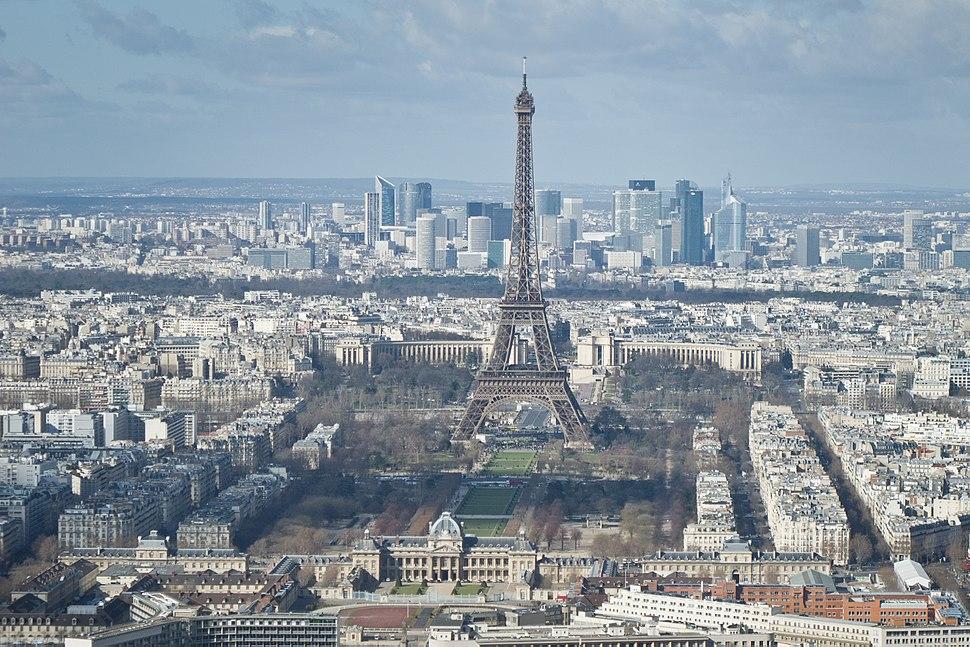 Tour Eiffel, École militaire, Champ-de-Mars, Palais de Chaillot, La Défense - 01