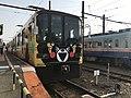 Train for Kami-Kumamoto Station at Kita-Kumamoto Station.jpg