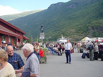 Flåm - Image: Trainstationinflam