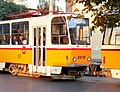 Tram in Sofia near Palace of Justice 2012 PD 011.jpg
