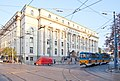 Tram in Sofia near Palace of Justice 2012 PD 041.jpg