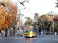 Tram in Sofia near St Nedelya Church 2012 PD 007.jpg