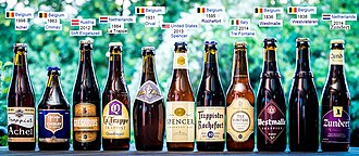 Beer in Belgium - Beers from recognised Trappist breweries: Achel, Chimay, Engelszell, La Trappe, Orval, Spencer, Rochefort, Tre Fontane, Westmalle, Westvleteren, and Zundert
