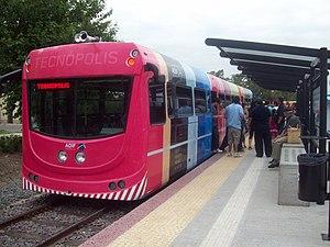 TecnoTren - TecnoTren railbus seen in Tecnopolis.