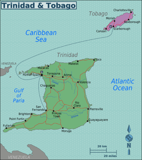 Trinidad and Tobago Regions map.png