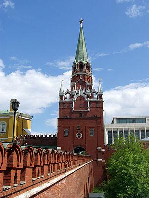 Troitskaya Tower - Troitskaya Tower from the Troitsky Bridge