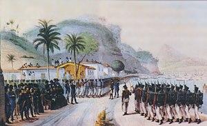 Portuguese conquest of the Banda Oriental - Image: Tropas brasileiras 1825