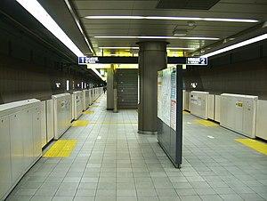 Minami-Nagareyama Station - Tsukuba Express platforms, January 2008