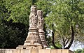 Two Pillar-like structures right outside Sun Temple, Modhera.jpg