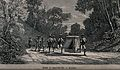 Two men are carrying a sedan chair between them along a road Wellcome V0041066.jpg