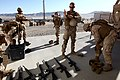 U.S. Marines with Engineer Company, Combat Logistics Regiment 2, prepare to undergo the MRAP Egress Trainer (MET) during Enhanced Mojave Viper (EMV), on Marine Corps Air Ground Combat Center Twenty-nine Palms 120828-M-KS710-006.jpg
