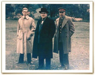 Harry Hinsley - Photograph of British cryptoanalysts Harry Hinsley, Sir Edward Travis, and John Tiltman