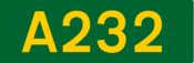 A232 road shield