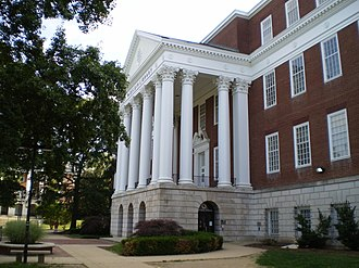 History of the University of Maryland, College Park - McKeldin Library.