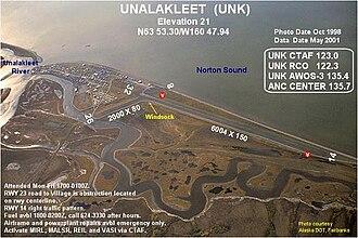 Unalakleet Airport - Image: UNK f