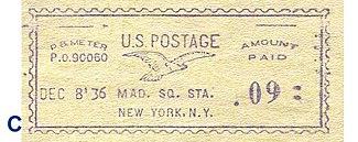 United States Postage Meter Stamp Catalog/GROUP PO – Franks
