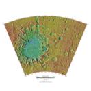 Topographical map of Argyre quadrangle on Mars