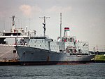 USNS Tanner (T-AGS-40) laid up at Newport News in 1996.jpeg