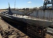 USS Bowfin SS 287 in drydock 2004