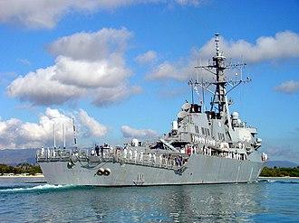Arleigh Burke-class destroyer - Image: USS Fitzgerald DDG 62