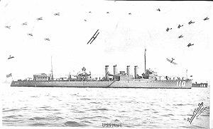 USS Hart (DD-110) on 4 July 1920