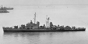 USS Henry W. Tucker - Image: USS Henry W. Tucker (DD 875) in 1945