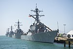 USS Porter, USS Donald Cook, USS Carney and USS Ross are moored at Naval Station Rota, Spain. (34916519110).jpg