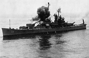 USS Saint Paul (CA-73) - Saint Paul shelling Vietnam in 1969.