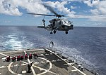 USS Spruance conducts flight operations. (27589406842).jpg
